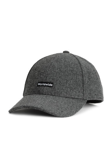 Wool-blend cap - Grey marl - Men | H&M