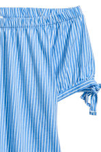 露肩上衣 - Light blue/White striped - Ladies | H&M 3