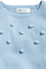 Knitted jumper with pompoms - Light blue/Glittery -  | H&M 3