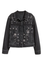 Embellished denim jacket - Nearly black/Stars - Ladies | H&M 2
