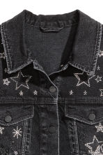 Embellished denim jacket - Nearly black/Stars - Ladies | H&M 4
