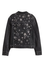 綴飾丹寧外套 - Nearly black/Stars - Ladies | H&M 3