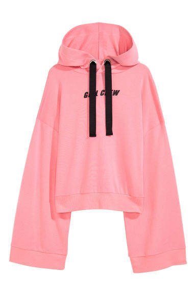 Cropped hooded top - Pink - Ladies | H&M 1
