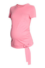 MAMA Jersey tie top - Light pink - Ladies | H&M IE 1