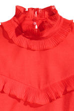 Frilled crêpe blouse - Bright red - Ladies | H&M GB 3