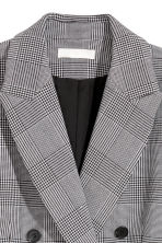 Double-breasted blazer - Zwart/dogtooth - DAMES | H&M NL 3