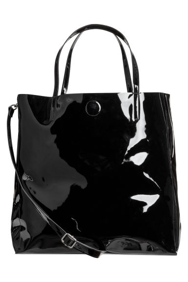 Shopper - Black/Patent - Ladies | H&M