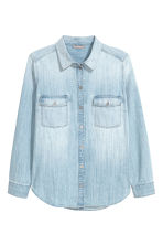 H&M+ 丹寧襯衫 - Light blue - Ladies | H&M 2