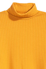 Ribbed polo-neck jumper - Yellow - Ladies | H&M 3