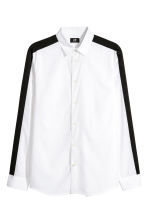 Top with stripes - White/Black - Men | H&M GB 2