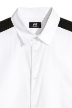 Shirt with sleeve stripes - White/Black - Men | H&M IE 3