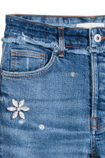 Slim High Jeans with diamante - Denim blue - Ladies | H&M 4