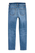 Slim High Jeans with diamante - Denim blue - Ladies | H&M 3