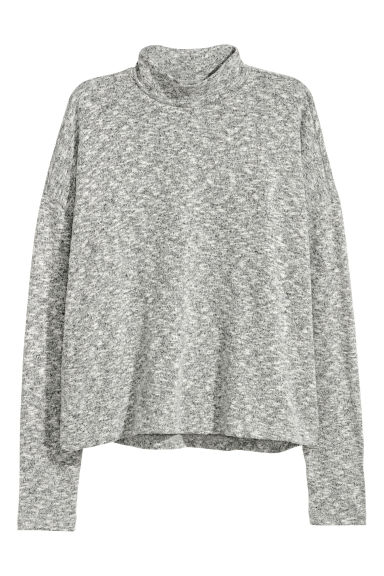 Turtleneck jumper - Grey marl - Ladies | H&M CN 1