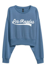 Sweatshirt - Blue/Los Angeles - Ladies | H&M CN 1