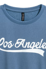 Sweatshirt - Blue/Los Angeles - Ladies | H&M CN 2