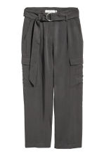 Ankle-length cargo trousers - Dark grey - Ladies | H&M 2