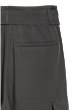 Ankle-length cargo trousers - Dark grey - Ladies | H&M 3
