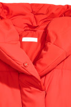 Padded jacket with a hood - Bright red - Ladies | H&M CN 3