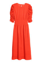 Dress with smocking - Neon orange - Ladies | H&M GB 2