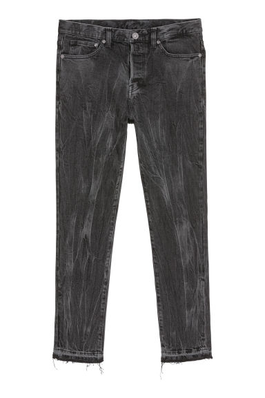 Relaxed Skinny Jeans - Zwart/washed out - HEREN | H&M NL