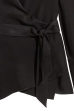 Wrapover shirt - Black - Ladies | H&M CN 3