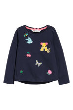 Jersey Top - Dark blue - Kids | H&M CA 2