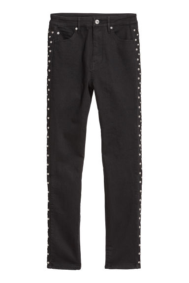 Stretch trousers with studs - Black - Ladies | H&M IE
