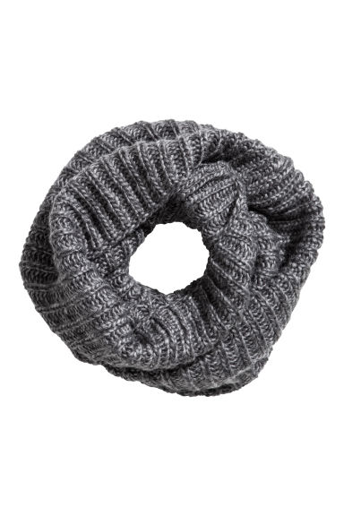Wool-blend tube scarf - Grey marl - Men | H&M 1