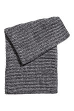 Wool-blend tube scarf - Grey marl - Men | H&M 2