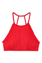 Non-wired halterneck bra - Red - Ladies | H&M CN 2