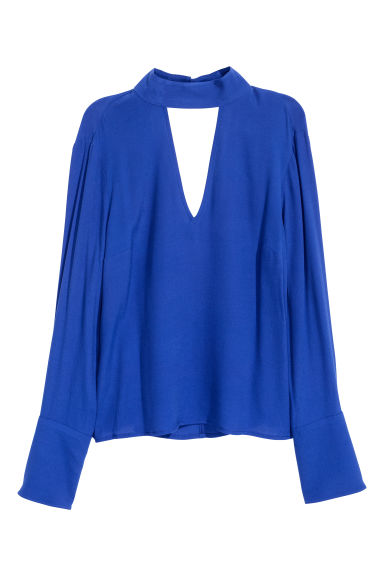Crêpe blouse - Cornflower blue - Ladies | H&M CN