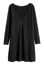 Jersey V-neck dress - Black - Ladies | H&M CN 2