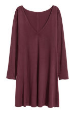 Abito in jersey scollo a V - Bordeaux - DONNA | H&M IT 2