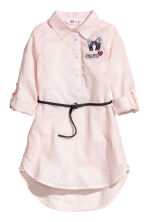 Shirt dress - Light pink/White striped -  | H&M CN 2