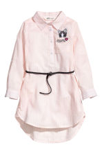 Shirt dress - Light pink/White striped - Kids | H&M 1