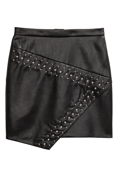 Skirt with studs - Black - Ladies | H&M
