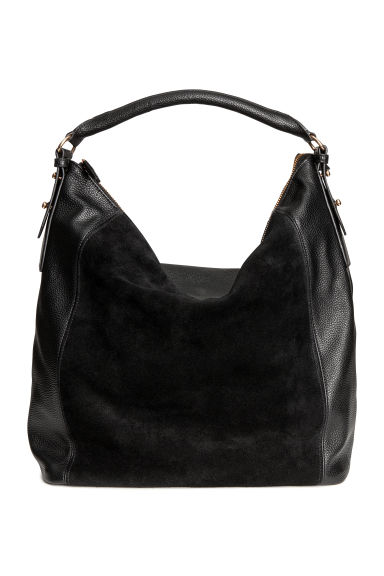 Hobo bag with suede details - Black -  | H&M IE