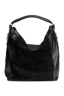 Hobo bag with suede details