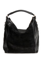 Hobo bag with suede details - Black - Ladies | H&M CN 1