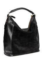 Hobo bag with suede details - Black - Ladies | H&M CN 2
