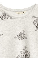 Sweatshirt - Light grey marl/Floral - Kids | H&M CN 2