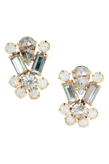 Sparkly earrings - Gold-coloured - Ladies | H&M 1