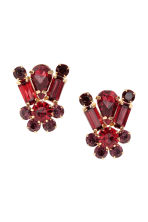 Sparkly earrings - Red - Ladies | H&M CN 1