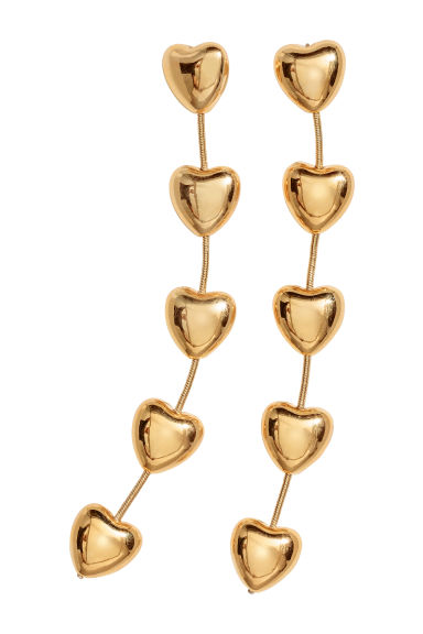 Gold-plated earrings - Gold-coloured -  | H&M