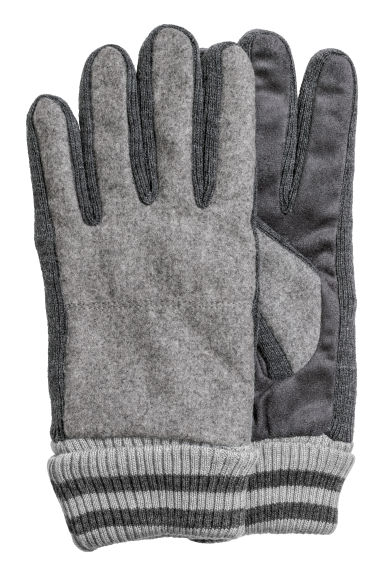 Wool-blend gloves - Grey marl - Men | H&M CN