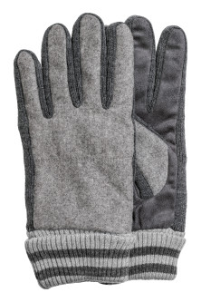 Wool-blend gloves