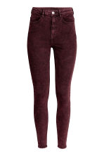 Overdyed twill trousers - Burgundy - Ladies | H&M 2