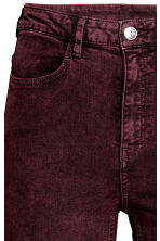 Overdyed twill trousers - Burgundy - Ladies | H&M 4