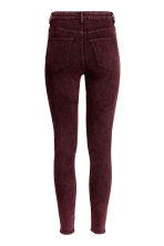 Overdyed twill trousers - Burgundy - Ladies | H&M 3